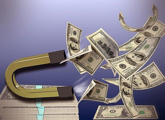 magnet-attracting-money
